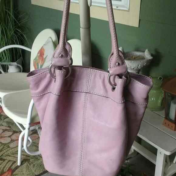 Tignanello Handbags - Leather lavender handbag
